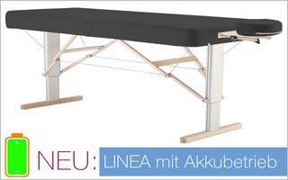 LINEA - Mobile Massageliege mit elektrischer Höhenverstellung - Jetzt auch mit Akkubetrieb